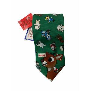 Rudolph Reindeer Christmas Musical Tie